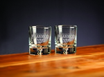 Picture of Custom Etched Crystal Deluxe Barware Rocks Glass