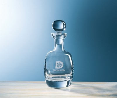 Customizable Etched Crystal Barrel Decanter