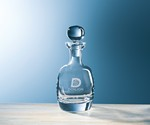 Picture of Customizable Etched Crystal Barrel Decanter