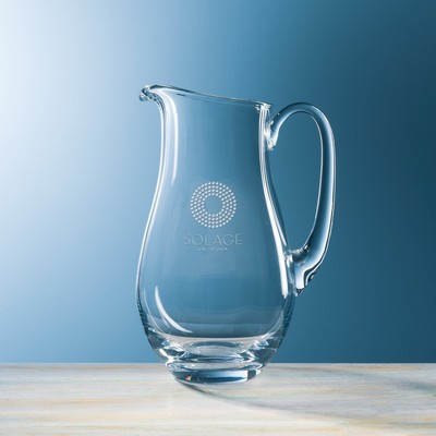 Customizable Etched Large Crystal Classic Pitcher
