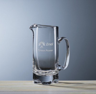 Custom Etched Crystal New York Pitcher