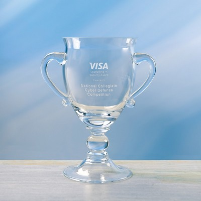 Customizable Hartman Small Etched Crystal Trophy Cup