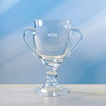 Picture of Customizable Hartman Small Etched Crystal Trophy Cup