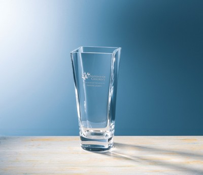 Custom Etched Small Monte Carlo Crystal Vase