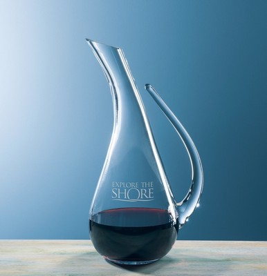 Custom Etched Crystal Wine Cantina Carafe