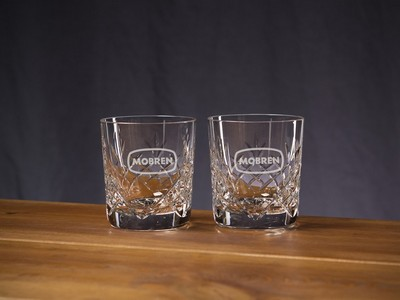 Custom Etched Crystal Director's On The Rocks Glass