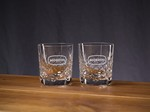Picture of Custom Etched Crystal Director's On The Rocks Glass