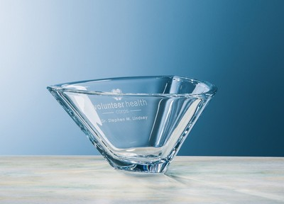 Customizable Etched Crystal Large Trio Bowl