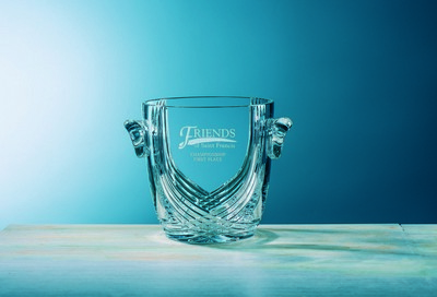 Customizable Etched Crystal Medium Brendan Ice Bucket