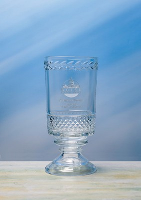 Customizable Small Etched Crystal Parker Trophy