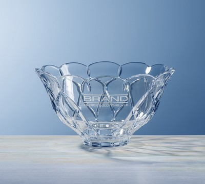Custom Etched Large Crystal Brookhaven Bowl