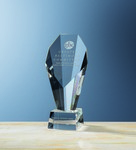 Picture of Custom Etched Medium Crystal FanFare Award