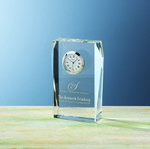 Picture of Customizable Optical Crystal Faceted Fulton Clock