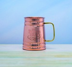 Picture of Custom Etched Copper Plated Tankard Mug