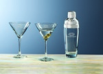 Picture of Custom Etched Crystal Selection 3-Piece Martini Set