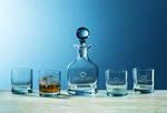 Picture of Custom Etched Crystal Glass & Decanter 5-Piece Set