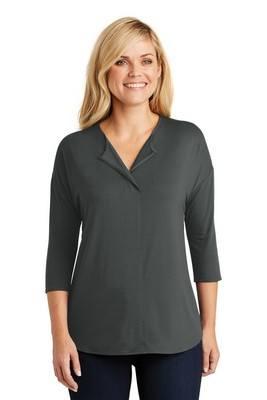 Port Authority®Ladies Concept 3/4-Sleeve Soft Split Neck Top