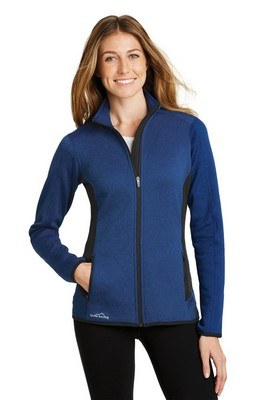 Eddie Bauer Ladies Full-Zip Heather Stretch Fleece Jacket