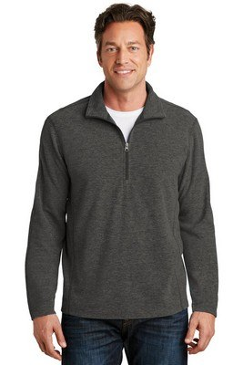 Port Authority Heather Microfleece ½-Zip Pullover