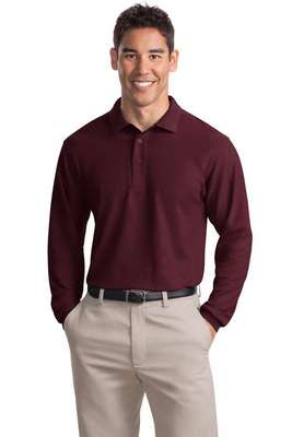 Port Authority Men's Long Sleeve Silk Touch Polo