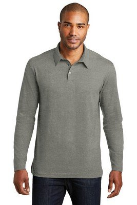 Port Authority Long Sleeve Meridian Cotton Blend Polo