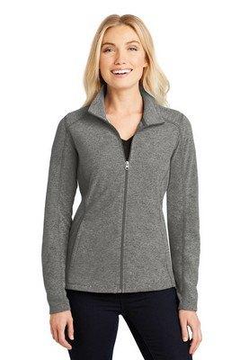 Port Authority Ladies Heather Microfleece Full-Zip Jacket
