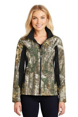 Port Authority Ladies Camouflage Colorblock Soft Shell