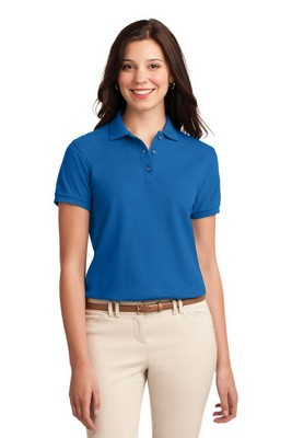 Port Authority Ladies Silk Touch Short Sleeve Polo