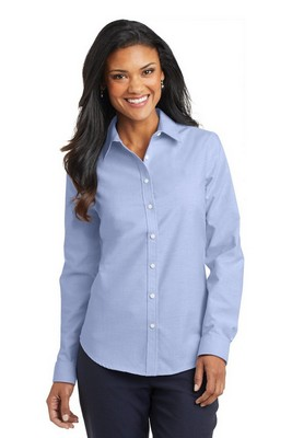 Port Authority Ladies Long Sleeve Button-Up SuperPro Oxford Shirt