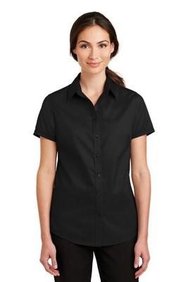 Port Authority Ladies Short Sleeve SuperPro Twill Shirt