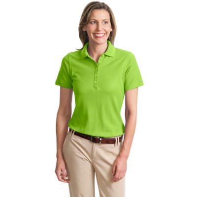 Port Authority Ladies Short Sleeve Pique Polo