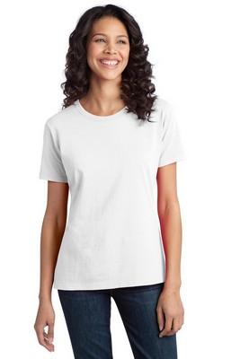 Port & Company Ladies Essential Ring Spun Cotton White T-Shirt