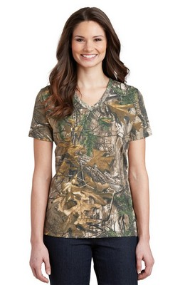 Russell Outdoors Realtree Ladies 100% Cotton V Neck T-Shirt