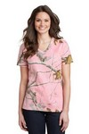 Picture of Russell Outdoors Realtree Ladies 100% Cotton V Neck T-Shirt