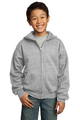 Port & Company Youth Full-Zip Hooded Sweatshirt