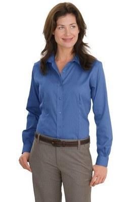 Red House Ladies Long Sleeve Nailhead Non-Iron Button-Down Shirt
