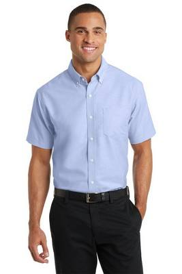 Port Authority Men's Short Sleeve Button-Up SuperPro Oxford Shirt