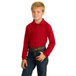 Picture of Port Authority Youth Long Sleeve Silk Touch Polo