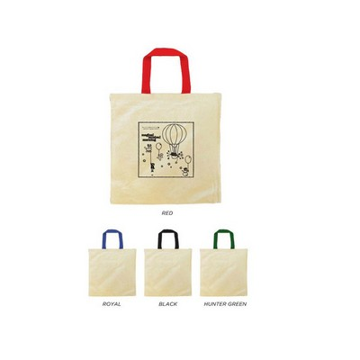 Tote Bag with Contrasting Web Handles