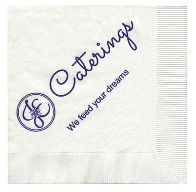 Customizable 3-Ply Cocktail Napkins in White