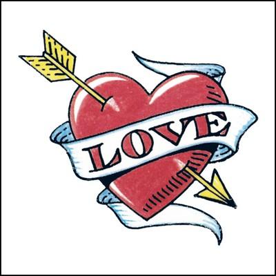 Love Heart Stock Tattoo