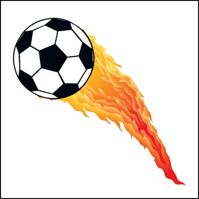 Flaming Soccer Ball Stock Tattoo