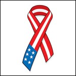 Picture of American Flag Ribbon Stock Tattoo