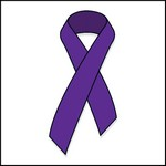 Picture of Purple Ribbon Stock Tattoo