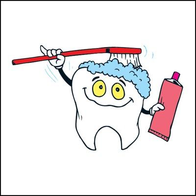 Brushing Teeth Stock Tattoo