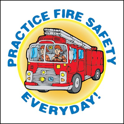 Practice Fire Safety Everyday Stock Tattoo