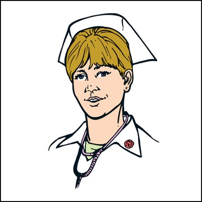 Female Nurse Stock Tattoo
