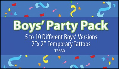 Boy's Party Pack Stock Tattoo