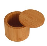 Picture of Round Bamboo Salt Box