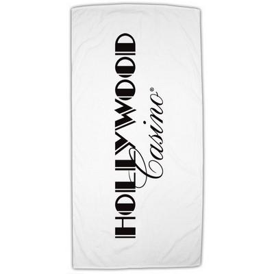 "Figi 30"" x 60"" Standard Weight Beach Towel (White)"